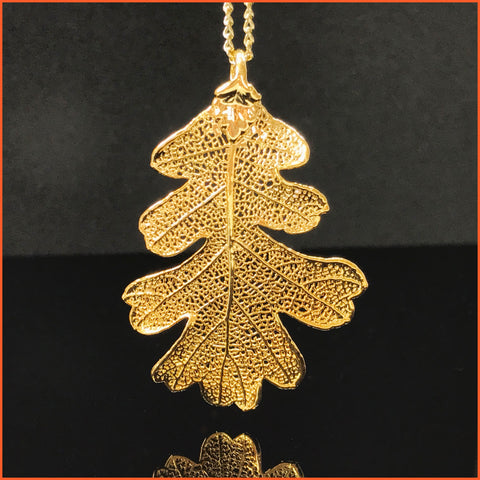 Goldplated Leaf (Oak) Necklace