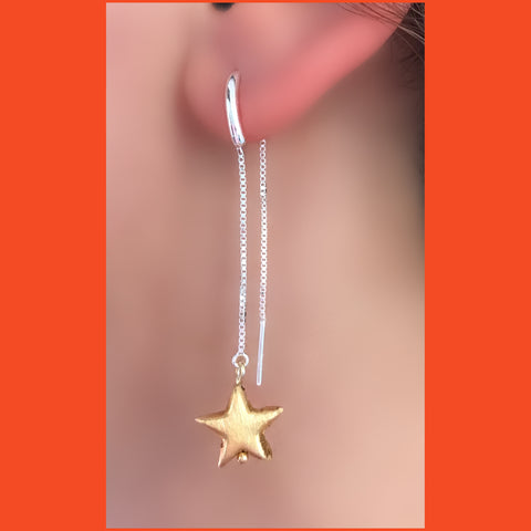 Gold-plated Star Ear Threader