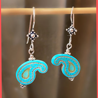 Paisley Turquoise Earrings