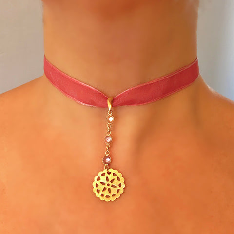 Gold-plated Silver Coin Necklet