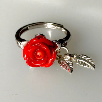 Rose Coral Adjustable Ring