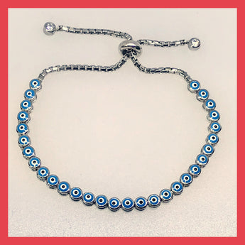 Sterling Silver Evil-eye Tennis Bracelet
