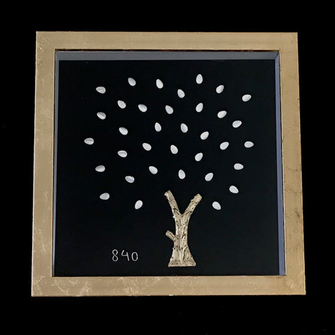 24ct Gold Leaf Plated Silver Filigree Tree in Frame