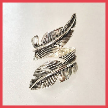 Open Feather Ring