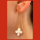 Club Mother of Pearl Ear Threaders