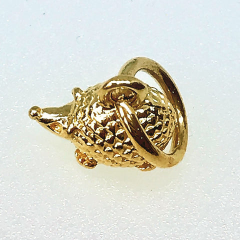Gold-plated Hedgehog Charm
