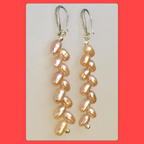 Wheat Freshwater Pearl Earrings