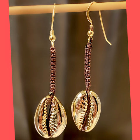 Electroplated Shell Earrings