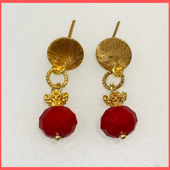 Gold Pomegranate Earring Studs