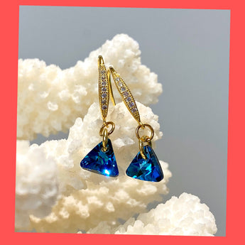 Swarovski Triangle Earrings