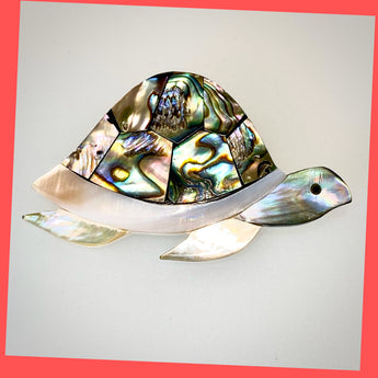 Abalone Turtle Brooch