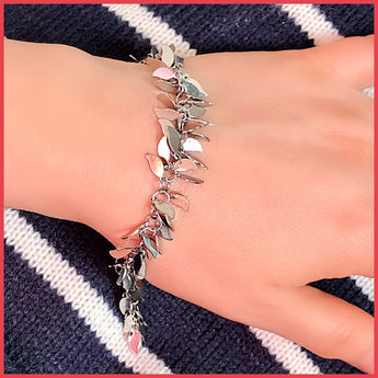 Chain Decorated with Leaves Bracelet