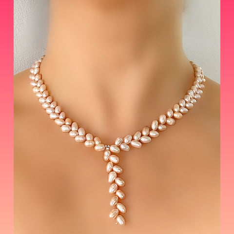 Wheat Shaped Pearl Necklace