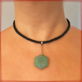 Hexagon Aventurine Necklace