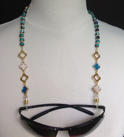 Spectacle chains; Multi colored crystals