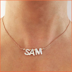 Name Necklace with Shell Letters