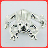 Rings; Sterling silver frog