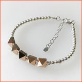 Rose-gold Swarovski Spikes Bracelet