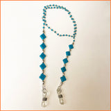 Spectacle Chain with Clover Shaped Turquoise