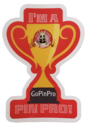 "I'm a Pin Pro! 2.08"" × 3"" die cut decal sticker - GoPinPro"
