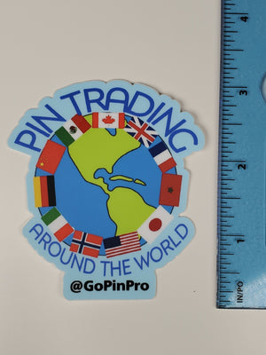 Pin Trading Around The World Decal Sticker