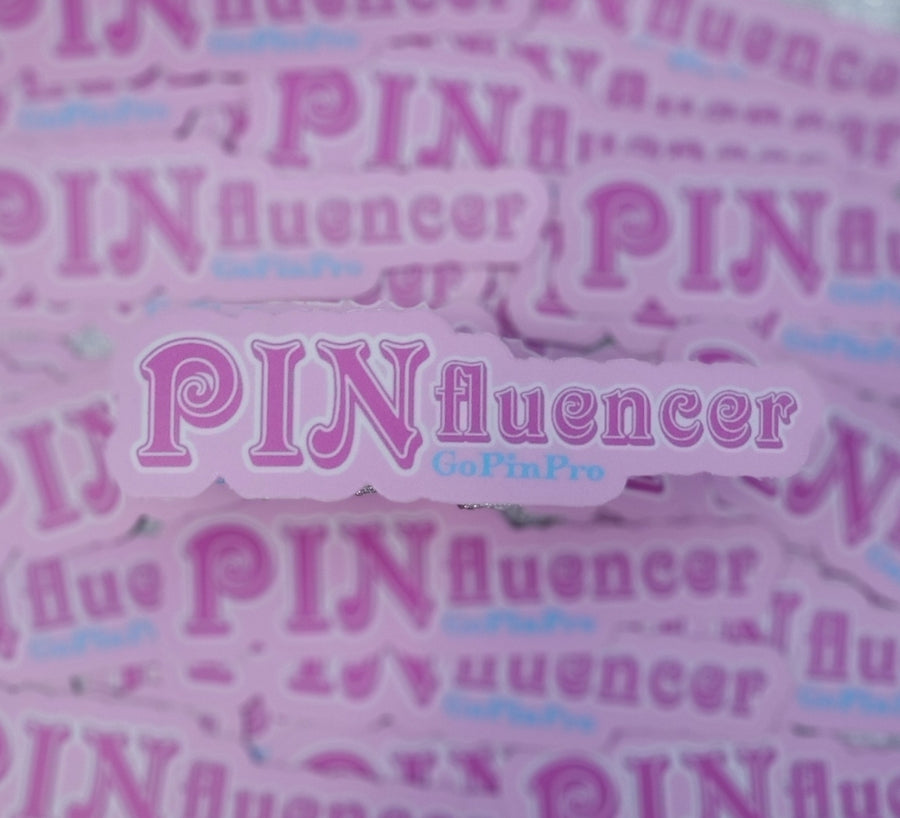 "PINfluencer die cut 3.62"" × 1"" vinyl sticker - GoPinPro"
