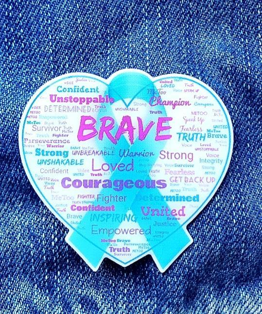 Brave Sexual Assault Survivors Support Pin - GoPinPro