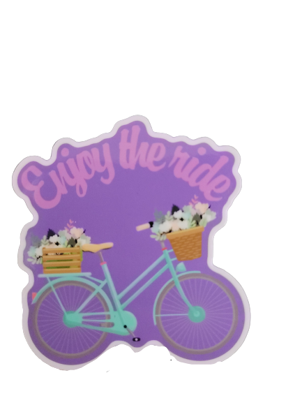 "Enjoy the Ride Sticker  3"" × 3"" die cut Decal - GoPinPro"