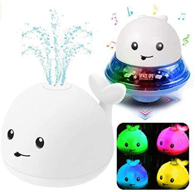 Whale Light Up Water Fountain and Musical Land Toy - GoPinPro