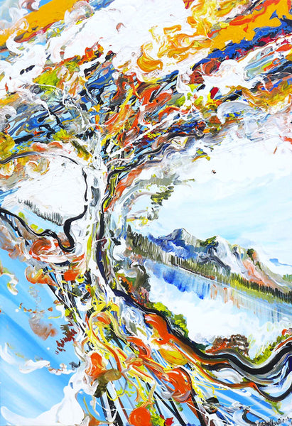 "Original Painting ""Abstract Tree"""