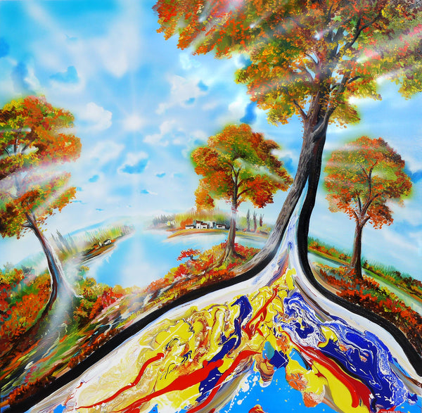 "Original Painting ""Earth Tree"""