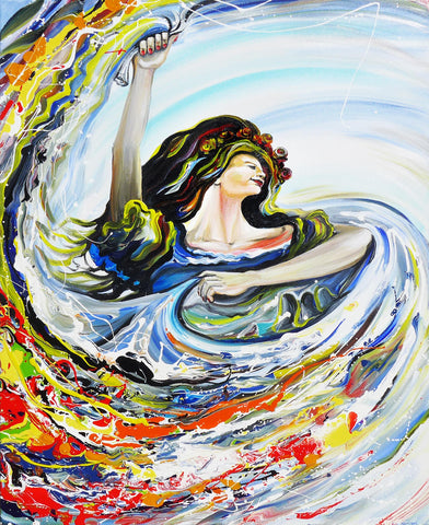 "Original Painting ""Dancing with Flair"""