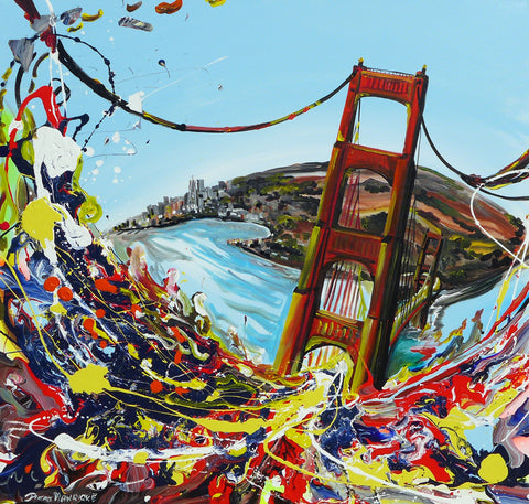 "Original Painting ""San Francisco Bridge"""
