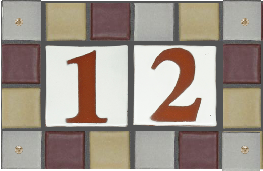 Color Tones Multi-tile Address Plaques