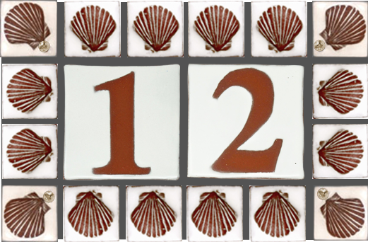 Seashell Surround Address Plaque