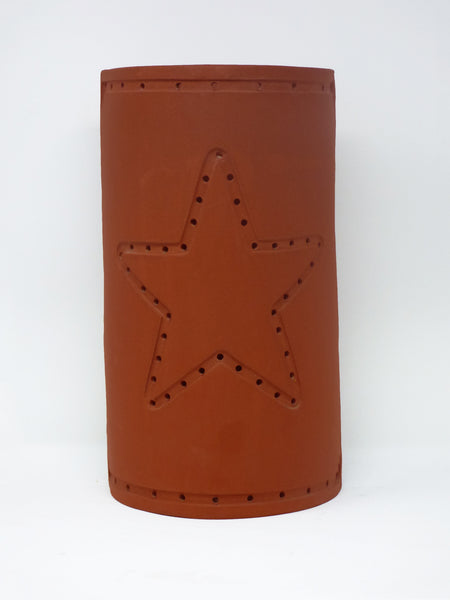 Pierced Star terra cotta wall Sconce - Clayworks Studio/Gallery