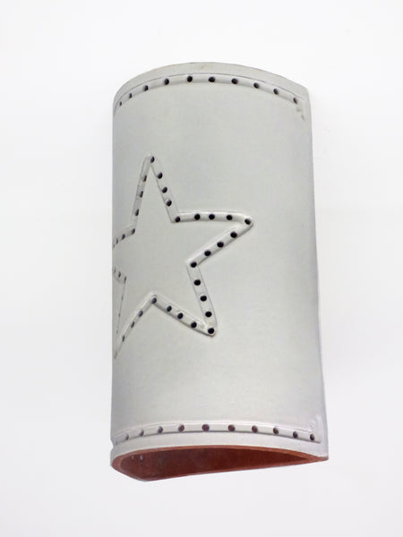 #210 Pierced Star Sconce - Clayworks Studio/Gallery