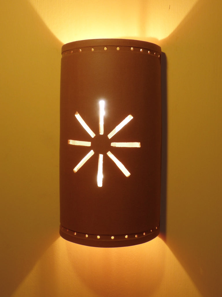 #214 Cutout Starburst Sconce - Clayworks Studio/Gallery