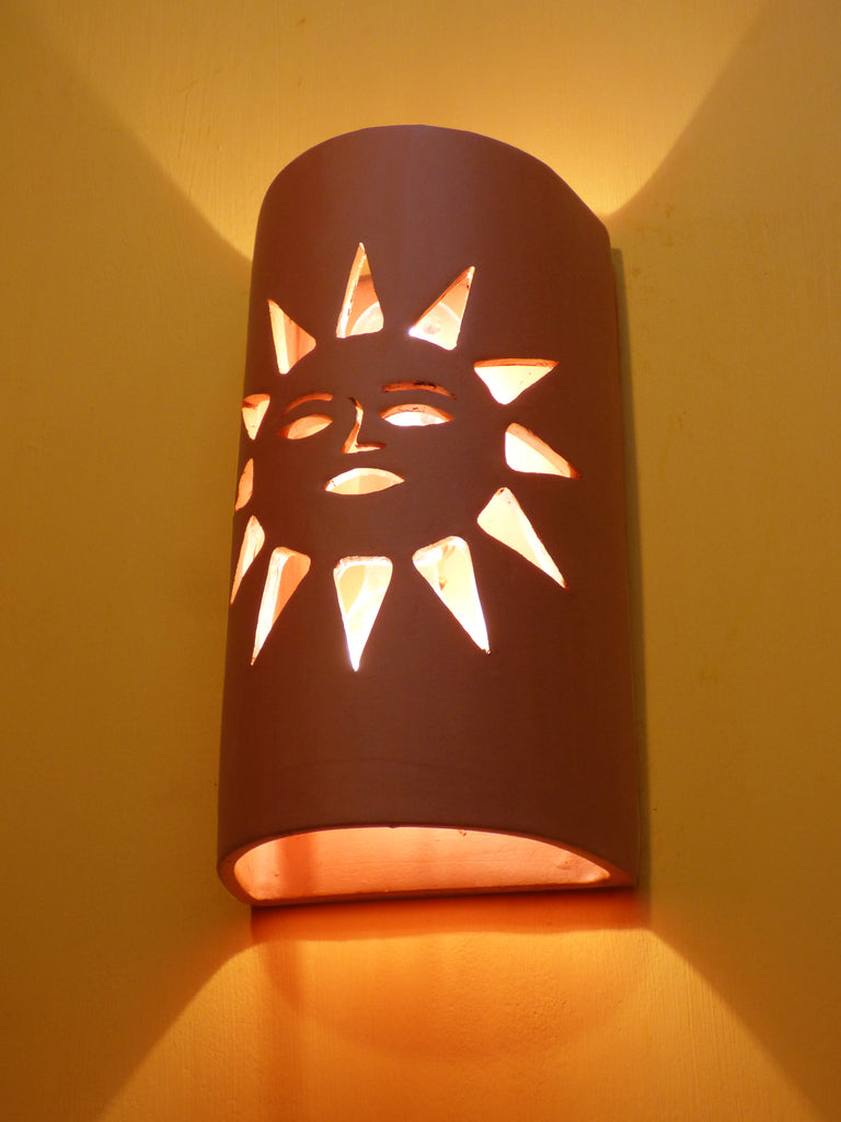 #216 Sunface Sconce - Clayworks Studio/Gallery