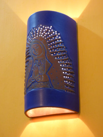 #317 Virgin of Guadalupe Sconce - Clayworks Studio/Gallery
