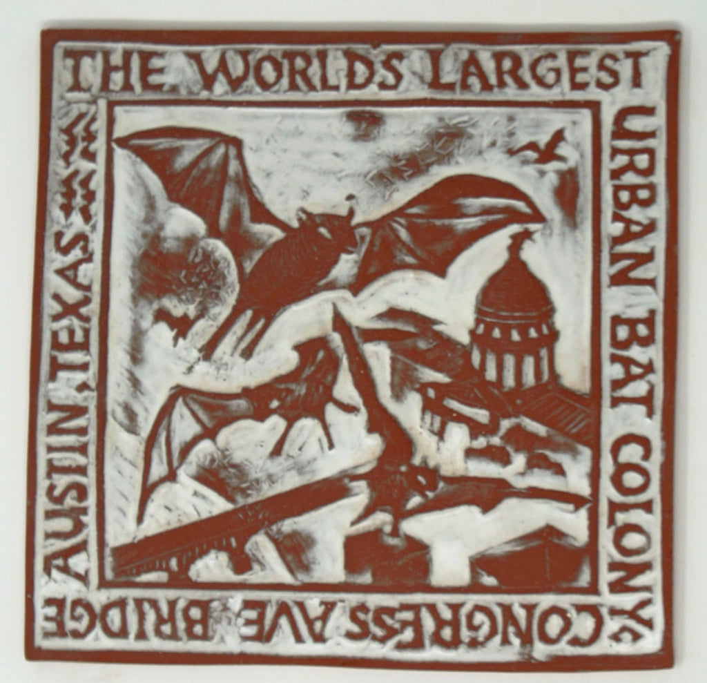 Congress Bridge Bat Colony Tile - Clayworks Studio/Gallery