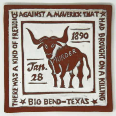 "Big Bend ""Murder"" Tile - Clayworks Studio/Gallery"
