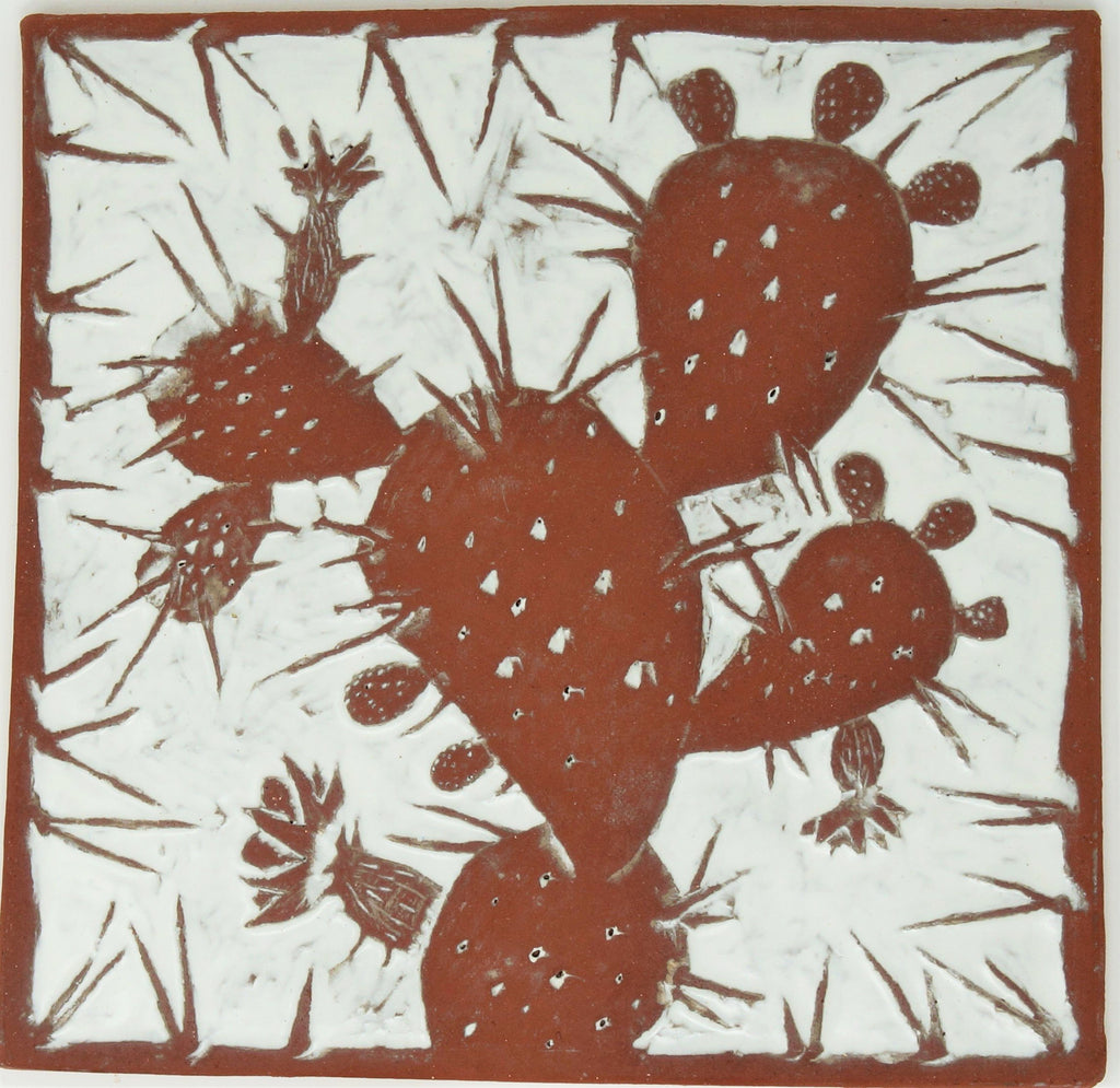 Prickly Pear Tile - Clayworks Studio/Gallery