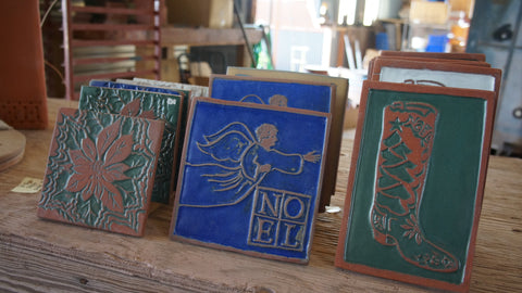 Clayworks Christmas Tiles - Clayworks Studio/Gallery