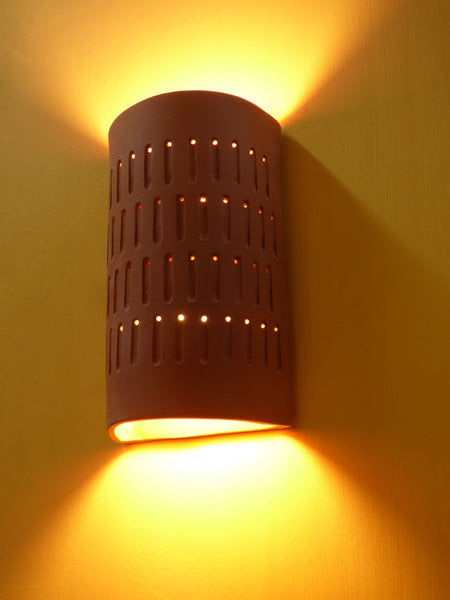 Lighted Terra Cotta Stagecoach Wall Sconce - Clayworks Studio/Gallery