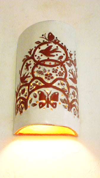#315 Embossed Tree of Life Sconce