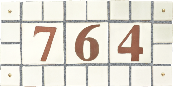 Solid Color Multi-tile Address Plaques