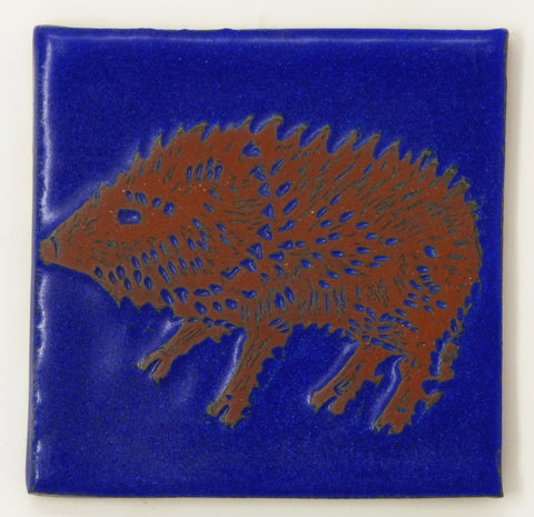 Javelina Critter Tile - Clayworks Studio/Gallery