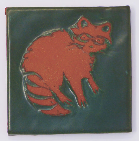 Racoon Critter Tile - Clayworks Studio/Gallery