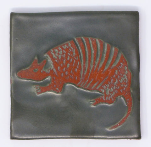 Armadillo Critter Tile - Clayworks Studio/Gallery